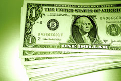 Pile of U.S. money Royalty Free Stock Photography