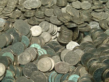 Pile of UK coins Stock Images