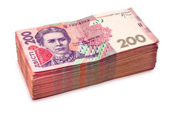 Pile of ukrainian money Royalty Free Stock Photo