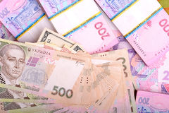 Pile of Ukrainian money Stock Photography