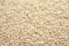 Pile of uncooked rice as background. Closeup royalty free stock images