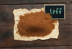Pile of uncooked  teff grain Royalty Free Stock Photography