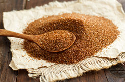 Pile of uncooked teff grain royalty free stock images