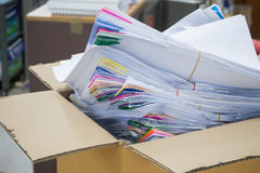 Pile of unfinished paperwork Royalty Free Stock Photos