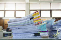 Pile of unfinished paperwork Stock Photos