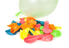 Pile of uninflated balloons Stock Photo