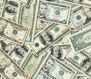 Pile of United States of America Dollar banknotes Royalty Free Stock Images