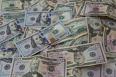 Pile of United States of America Dollar banknotes. Stock Photo