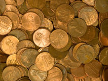 Pile of United States Coins Stock Image