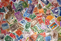 Pile of United States Postage Stamps Stock Photo