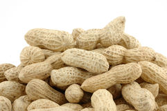 Pile of unshelled peanuts Royalty Free Stock Images