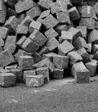 Pile of unused cobblestones Stock Images