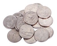 Pile of Quarters stock photos