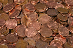Pile of US coins Stock Image