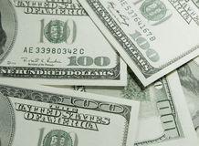 Pile of US dollars Stock Photography
