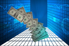 Pile of US federal reserve notes Royalty Free Stock Photos