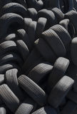 Pile of used automobile tires Royalty Free Stock Image
