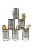 Pile of used cans Royalty Free Stock Images