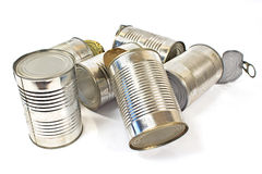 Pile of used cans Stock Image