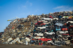 Pile of used cars Stock Photography