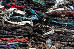 Pile of used cars, car scrap yard Stock Images
