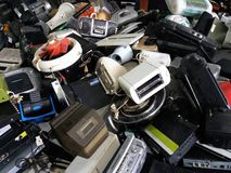 Pile of used Electronic and Housewares Waste Division broken or damage Royalty Free Stock Images