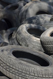 Pile of used old rubber tire Three Royalty Free Stock Photography
