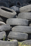 Pile of used old rubber tire Two Stock Image