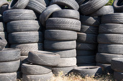 Pile of Used Tires Stock Image