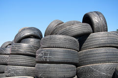 Pile of Used Tires Royalty Free Stock Photos