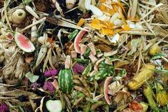 Pile végétale de compost Photographie stock libre de droits