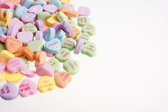 Pile of valentine candy. A pile of colorful valentine candy royalty free stock photo