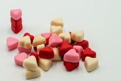 Pile Valentine Candy Hearts photo libre de droits