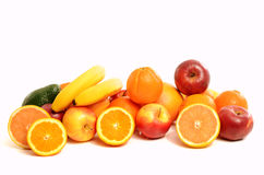 Pile of a variety fresh fruits. Royalty Free Stock Photo