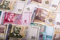 Different bulgarian banknotes Royalty Free Stock Photo