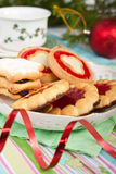 Pile of various christmas  cookies Stock Image