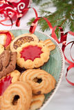 Pile of various christmas  cookies Stock Photography