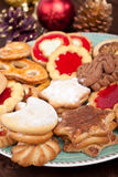 Pile of various christmas  cookies Royalty Free Stock Image
