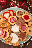 Pile of various christmas  cookies Stock Images
