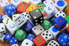 A Pile of Various Dice Royalty Free Stock Photography