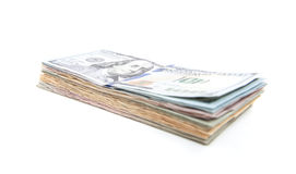 Pile of various dollar notes Stock Image