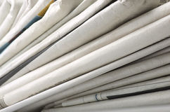 Pile of Various newspapers Royalty Free Stock Image