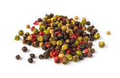 Pile of various pepper kinds Royalty Free Stock Image