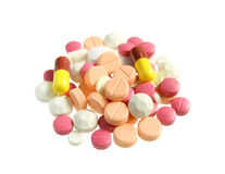 Pile of various pills Stock Image