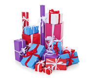 Pile of various wrapped presents Stock Photography