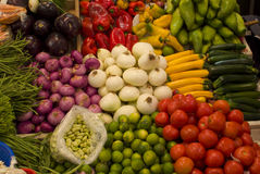 Pile of vegetables. A pile of vegetables in the market Stock Photo