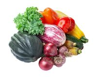 Pile of vegetables isolated Royalty Free Stock Photography