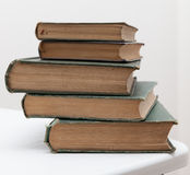Pile of very old books Royalty Free Stock Photo