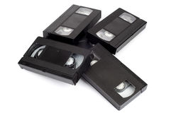 Pile of video cassettes Royalty Free Stock Photos