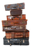 Pile of vintage luggage Stock Photography